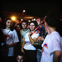 On the 2nd of september 2011 Nagorno-Karabakh celebrates the 20th anniversary of its independance. In the evening, numerous teenagers came to the free concert organized in the Stadium of Stepanakert to see their favorite singers and celebrate the independance.