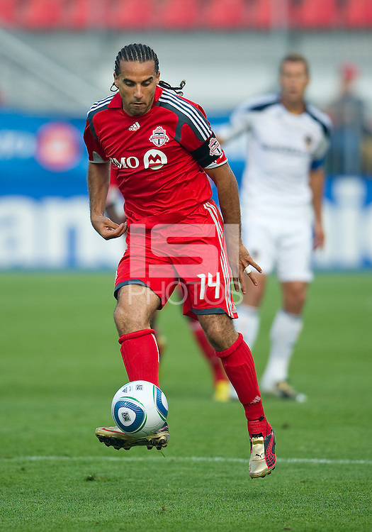 26 June 2010:  Toronto FC forward Dwayne De Rosario #14 in action during a game between the Los Angeles Galaxy and the Toronto FC at BMO Field in Toronto..Final score was 0-0...