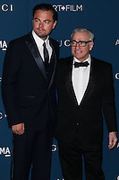 LOS ANGELES, CA - NOVEMBER 02: Leonardo DiCaprio, Martin Scorsese at LACMA 2013 Art + Film Gala held at LACMA on November 2, 2013 in Los Angeles, California. (Photo by Xavier Collin/Celebrity Monitor)