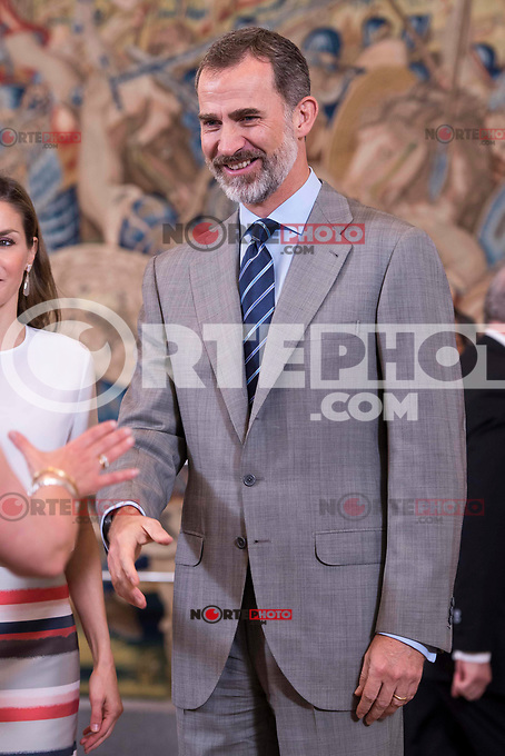 King Felipe VI of Spain  attends to several audiences at Zarzuela Palace in Madrid, July 05, 2017. Spain.<br /> (ALTERPHOTOS/BorjaB.Hojas) /NortePhoto.com