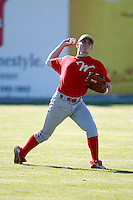June 22, 2009:  Outfielder Michael Dabbs of the Williamsport Crosscutters during a game at Dwyer Stadium in Batavia, NY.  The Crosscutters are the NY-Penn League Short-Season Single-A affiliate of the Philadelphia Phillies.  Photo by:  Mike Janes/Four Seam Images