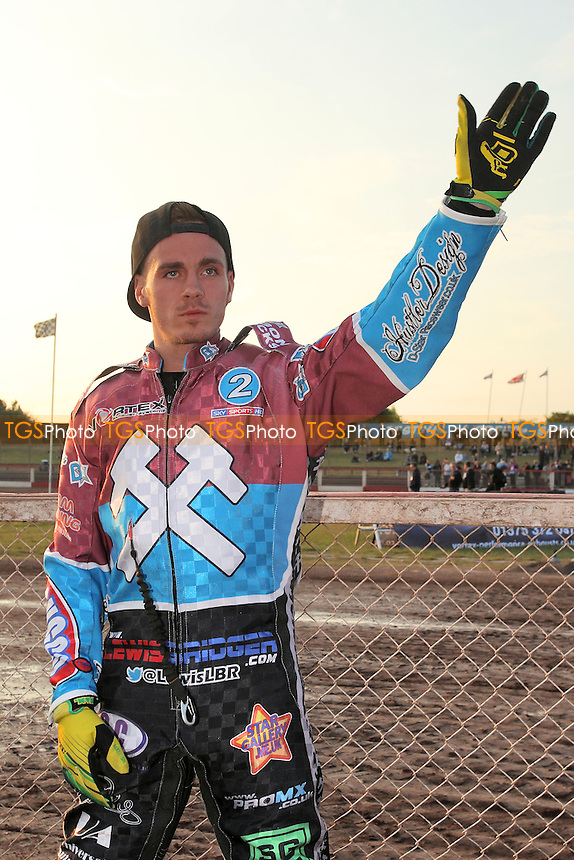 Lewis Bridger of Lakeside Hammers - Lakeside Hammers vs Poole Pirates - Sky Sports Elite League Speedway at Arena Essex Raceway, Purfleet - 07/06/13 - MANDATORY CREDIT: Gavin Ellis/TGSPHOTO - Self billing applies where appropriate - 0845 094 6026 - contact@tgsphoto.co.uk - NO UNPAID USE