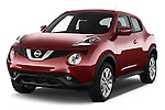 2015 Nissan JUKE TEKNA 5 Door SUV 2WD Angular Front stock photos of front three quarter view