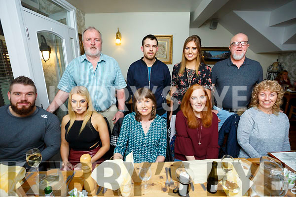 Welcome home to Mick Mooney celebration at Bella Bia's On Saturday front l-r Leighton Dellinger, Kerry Ann Mooney, Philomena Mooney, Elaine Mooney, Lily Galvin, Back l-r Paul Mooney, John Molineux, Hazel Mooney and Mick Mooney