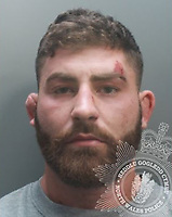 "Pictured: Meredydd Francis<br /> Re: Ex-rugby player Meredydd Francis, who grabbed a police officer's testicles in an attack which left him unconscious has been jailed by Caernarfon Crown Court, Wales, UK.<br /> Francis, 26, assaulted PC Richard Priamo after he was called to his home in the Southsea area of Wrexham north Wales, to arrest Francis on 3 August 2019.<br /> Francis was previously captain of the Rygbi Gogledd Cymru team.<br /> Judge Niclas Parry described Francis as a ""powerful man with an explosive temper"". He was jailed for 21 months.<br /> Francis had thrown traffic officer PC Priamo in a ""dump tackle"" and punched and kicked him until he lost consciousness the court heard."