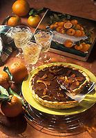Cuisine/Gastronomie Generale: Tarte au chocolat aux zestes d'orange