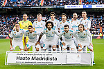 Real Madrid squad pose for team photo during the La Liga 2017-18 match between Real Madrid and Sevilla FC at Santiago Bernabeu Stadium on 09 December 2017 in Madrid, Spain. Photo by Diego Souto / Power Sport Images