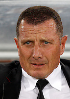 Calcio, Serie A: Roma vs Chievo Verona. Roma, stadio Olimpico, 7 maggio 2013..AS Roma coach Aurelio Andreazzoli looks on prior to the start of the Italian Serie A football match between AS Roma and ChievoVerona at Rome's Olympic stadium, 7 May 2013..UPDATE IMAGES PRESS/Riccardo De Luca