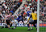 Everton's Andy Johnson scores with a header. during the Premier League match at the Stadium of Light, Sunderland. Picture date 9th March 2008. Picture credit should read: Richard Lee/Sportimage