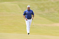Lee Westwood (ENG) walks onto the 1st green during Saturday's Round 3 of the 2018 Dubai Duty Free Irish Open, held at Ballyliffin Golf Club, Ireland. 7th July 2018.<br /> Picture: Eoin Clarke | Golffile<br /> <br /> <br /> All photos usage must carry mandatory copyright credit (&copy; Golffile | Eoin Clarke)