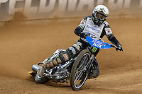 TAI WOFFINDEN (Great Britain) in action during the 2016 Adrian Flux British FIM Speedway Grand Prix at Principality Stadium, Cardiff, Wales  on 9 July 2016. Photo by David Horn.