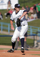 May 29, 2009:  Pitcher Mark Sorensen of the West Michigan White Caps delivers a pitch during a game at Fifth Third Ballpark in Comstock Park, MI.  The White Caps are the Midwest League Low-A affiliate of the Detroit Tigers.  Photo By Emily Jones/Four Seam Images
