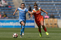 Bridgeview, IL - Saturday May 06, 2017: Vanessa DiBernardo, Amber Brooks during a regular season National Women's Soccer League (NWSL) match between the Chicago Red Stars and the Houston Dash at Toyota Park. The Red Stars won 2-0.