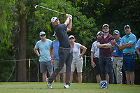 Justin Rose (GBR) watches his tee shot on 14 during Round 3 of the Zurich Classic of New Orl, TPC Louisiana, Avondale, Louisiana, USA. 4/28/2018.<br /> Picture: Golffile | Ken Murray<br /> <br /> <br /> All photo usage must carry mandatory copyright credit (&copy; Golffile | Ken Murray)