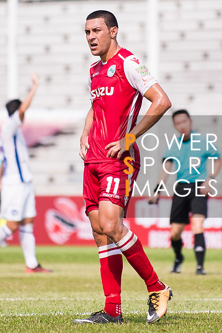 Wellingsson De Souza of Kwoon Chung Southern during the week three Premier League match between Kwoon Chung Southern and R&F at Aberdeen Sports Ground on September 16, 2017 in Hong Kong, China. Photo by Marcio Rodrigo Machado / Power Sport Images