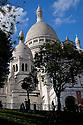 Paris, France. 09.05.2015. Sacre Coeur, Montmartre, Paris, France. Photograph © Jane Hobson.
