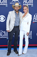 07 April 2019 - Las Vegas, NV - Jason Aldean, Brittany Aldean. 54th Annual ACM Awards Arrivals at MGM Grand Garden Arena. Photo Credit: MJT/AdMedia<br /> CAP/ADM/MJT<br /> &copy; MJT/ADM/Capital Pictures