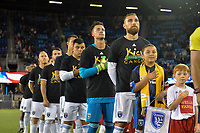 San Jose, CA - Wednesday September 19, 2018: San Jose Earthquakes, Guram Kashia prior to a Major League Soccer (MLS) match between the San Jose Earthquakes and Atlanta United FC at Avaya Stadium.