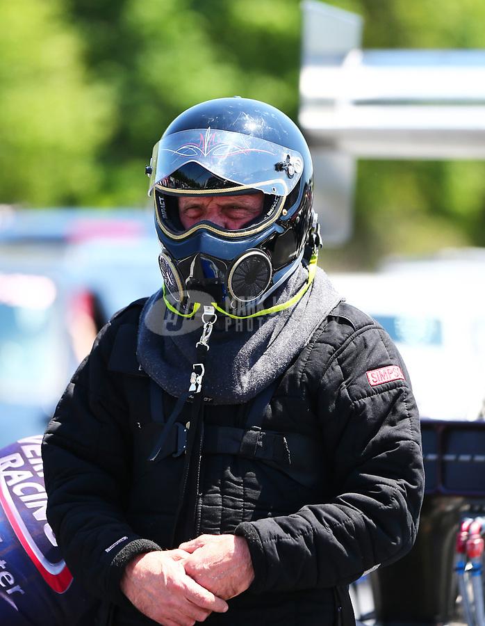 May 6, 2017; Commerce, GA, USA; NHRA top fuel driver Smax Smith during qualifying for the Southern Nationals at Atlanta Dragway. Mandatory Credit: Mark J. Rebilas-USA TODAY Sports