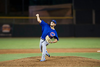 AZL Cubs relief pitcher Mitch Stophel (62) delivers a pitch to the plate against the AZL Giants on September 5, 2017 at Scottsdale Stadium in Scottsdale, Arizona. AZL Cubs defeated the AZL Giants 10-4 to take a 1-0 lead in the Arizona League Championship Series. (Zachary Lucy/Four Seam Images)