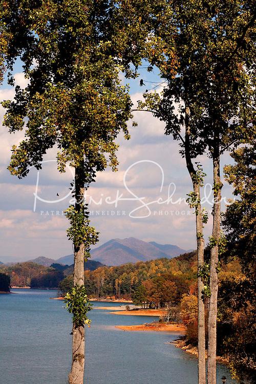 Watauga Lake in autumn (low pool) in Northeastern Tennessee.
