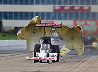 May 20, 2017; Topeka, KS, USA; NHRA top fuel driver Steve Torrence during qualifying for the Heartland Nationals at Heartland Park Topeka. Mandatory Credit: Mark J. Rebilas-USA TODAY Sports