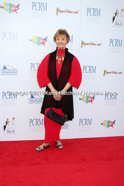 """Peggy McKay.arrives at """"The Art of Compasion PCRM 25th Anniversary Gala"""".The Lot.Los Angeles, CA.April 10, 2010.©2010 Kathy Hutchins / Hutchins Photo..."""