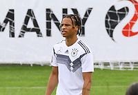 Leroy Sane (Deutschland Germany) hat eine Fußball-Frisur - 24.05.2018: Training der Deutschen Nationalmannschaft zur WM-Vorbereitung in der Sportzone Rungg in Eppan/Südtirol