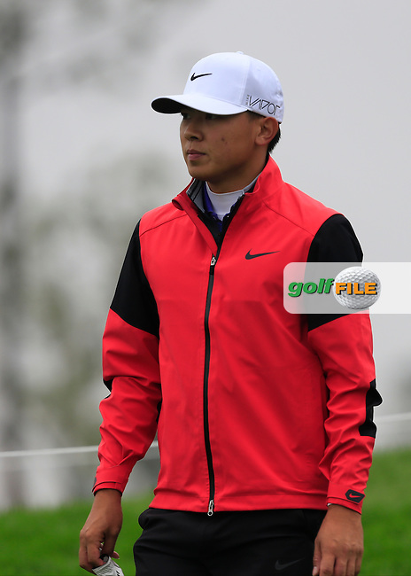 Chen Zi-hao (CHN) walking to the 17th tee during Round 2 of the BMW Masters at Lake Malaren Golf Club in Boshan, Shanghai, China on Friday 13/11/15.<br /> Picture: Thos Caffrey | Golffile<br /> <br /> All photo usage must carry mandatory copyright credit (&copy; Golffile | Thos Caffrey)