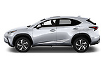 Car Driver side profile view of a 2019 Lexus NX 300h 5 Door SUV Side View