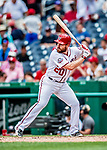1 August 2018: Washington Nationals second baseman Daniel Murphy in action against the New York Mets at Nationals Park in Washington, DC. The Nationals defeated the Mets 5-3 to sweep the 2-game weekday series. Mandatory Credit: Ed Wolfstein Photo *** RAW (NEF) Image File Available ***