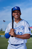 AZL Royals Edickson Soto (19) poses for a photo before an Arizona League game against the AZL Cubs 1 on June 30, 2019 at Sloan Park in Mesa, Arizona. AZL Royals defeated the AZL Cubs 1 9-5. (Zachary Lucy / Four Seam Images)