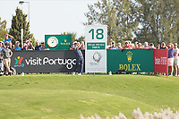 Andy Sullivan (ENG) on the 18th during Round 4 of the Portugal Masters, Dom Pedro Victoria Golf Course, Vilamoura, Vilamoura, Portugal. 27/10/2019<br /> Picture Andy Crook / Golffile.ie<br /> <br /> All photo usage must carry mandatory copyright credit (© Golffile | Andy Crook)