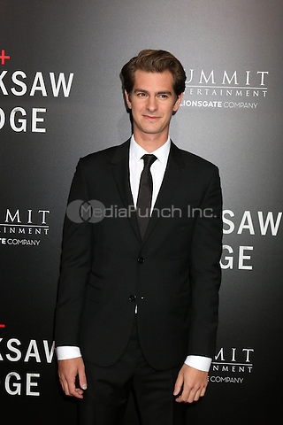 BEVERLY HILLS, CA - OCTOBER 24: Andrew Garfield at the screening of Summit Entertainment's 'Hacksaw Ridge' at Samuel Goldwyn Theater on October 24, 2016 in Beverly Hills, California. Credit: David Edwards/MediaPunch