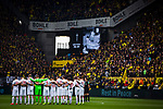 11.05.2019, Signal Iduna Park, Dortmund, GER, 1.FBL, Borussia Dortmund vs Fortuna D&uuml;sseldorf, DFL REGULATIONS PROHIBIT ANY USE OF PHOTOGRAPHS AS IMAGE SEQUENCES AND/OR QUASI-VIDEO<br /> <br /> im Bild | picture shows:<br /> Gedenkminute f&uuml;r den verstorbenen Lothar Geissler, <br /> <br /> Foto &copy; nordphoto / Rauch