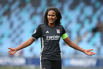 Wendie Renard of Lyon during the Women's Champions League, Semi Final 1st leg match at the Academy Stadium, Manchester. Picture date 22nd April 2018. Picture credit should read: Simon Bellis/Sportimage