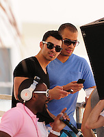 MIAMI BEACH, FL - MARCH 14: Micheal Yo, Joe Jonas and DJ Irie attends Victorias Secret Pink Nation Hosts Spring Break at The Shelborne on March 14, 2012 in Miami Beach, Florida. (photo by: MPI10/MediaPunch Inc.)