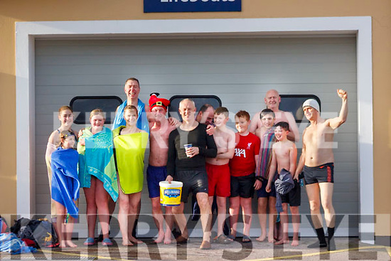Some of the swimmers taking part in the New Years Day Swim in Valentia on Wednesday with all the funds raised this year going to Valentia Island Hospital.