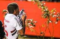 SAO PAULO, SP, 29 MAIO 2013 - CAMP. BRASILEIRO - SAO PAULO X VASCO  - Carleto jogador do São Paulo comemora seu gol durante partida contra o Vasco jogo valido pela segunda rodada do Campeonato Brasileiro no Estádio Cicero Pompeu de Toledo o Morumbi, na noite desta quarta-feira, 29. (FOTO: WILLIAM VOLCOV / BRAZIL PHOTO PRESS).