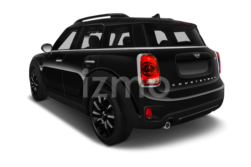 Car pictures of rear three quarter view of a 2018 Mini Countryman Oakwood 5 Door Hatchback angular rear