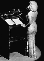 Pictured: A Jean Louis designed illusion gown worn by Marilyn Monroe at Madison Square Garden in New York City on May 19, 1962, at a Democratic fundraiser and 45th birthday celebration for President John F. Kennedy.<br />
