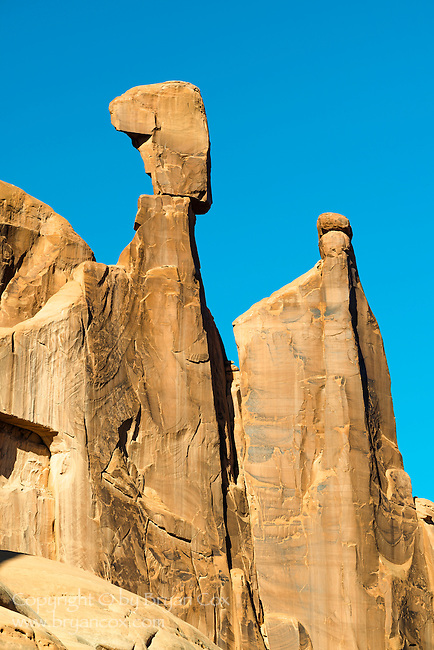 Slickrock towers, Park Avenue, Arches National Park