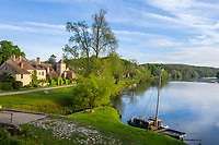 France, Cher (18), Apremont-sur-Allier, labellisé Plus Beaux Villages de France, et l'Allier