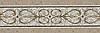 "13 1/2"" Alexander border, a hand-cut mosaic shown in polished Calacatta Tia, honed Gascogne Blue, Jura Grey, Jura Beige, and Montevideo by New Ravenna."