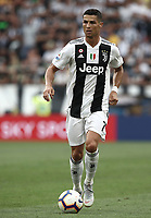 Calcio, Serie A: Juventus - Lazio, Torino, Allianz Stadium, 25 agosto, 2018.<br /> Juventus' Cristiano Ronaldo kicks the ball during the Italian Serie A football match between Juventus and Lazio at Torino's Allianz stadium, August 25, 2018.<br /> UPDATE IMAGES PRESS/Isabella Bonotto