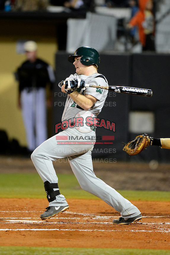 Siena Saints second baseman Nick Wolyniec #12 during a game against the Central Florida Knights at Jay Bergman Field on February 15, 2013 in Orlando, Florida.  UCF defeated Siena 7-1.  (Mike Janes/Four Seam Images)