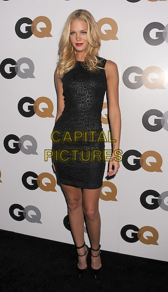 Erin Heatherton.Arriving at the GQ Men Of The Year Party at Chateau Marmont Hotel in Los Angeles, California, USA..November 13th, 2012.full length dress black sleeveless  patten print .CAP/ROT/TM.©Tony Michaels/Roth Stock/Capital Pictures