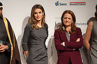 Letizia Ortiz and Montserrat Gomendio at Princess of Asturias at 4th Teaching Awards to education stakeholders