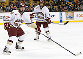 Patrick Alber (BC - 27), Gibbons - The Boston College Eagles defeated the Harvard University Crimson 6-0 on Monday, February 1, 2010, in the first round of the 2010 Beanpot at the TD Garden in Boston, Massachusetts.