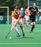 BLOEMENDAAL   - Hockey - Yannick van der Drift (Bldaal) . 3e en beslissende  wedstrijd halve finale Play Offs heren. Bloemendaal-Amsterdam (0-3). Amsterdam plaats zich voor de finale.  COPYRIGHT KOEN SUYK